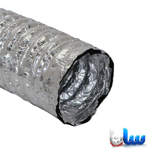 لوله فلکسیبل با عایق الاستومری 6 میلیمتر با روکش آلومینیوم